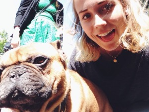 I found the same dog that me and Ali met on the first day in AMS. Tried to take a cute selfie... Did not succeed.