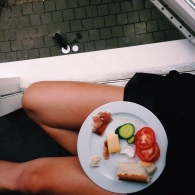 LUNCH W CAT